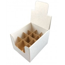 Countertop Shipper Display Box with divider 12 Cells for 2 oz Boston Round