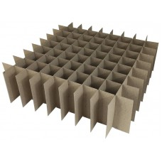 Chipboard Box Dividers 81 Cells for 1 oz (30ml) Boston Round