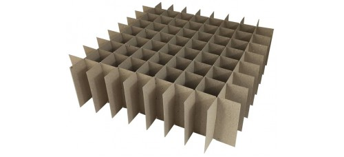 Chipboard Box Dividers 81 Cells for 1 oz (30ml) Boston Round (Pack of 20)