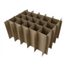 PACK OF 50 - Chipboard Box Dividers 12 Cells for 1 oz (30ml) Boston Round - BLOW OUT SPECIAL